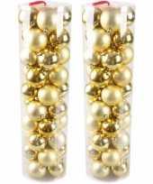 Plastic kerstballen goud 80 stuks