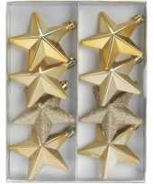 Ster kerstballen goud 8 stuks